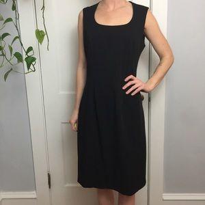 Vintage Mary McFadden Black LBD Midi Sheath Dress